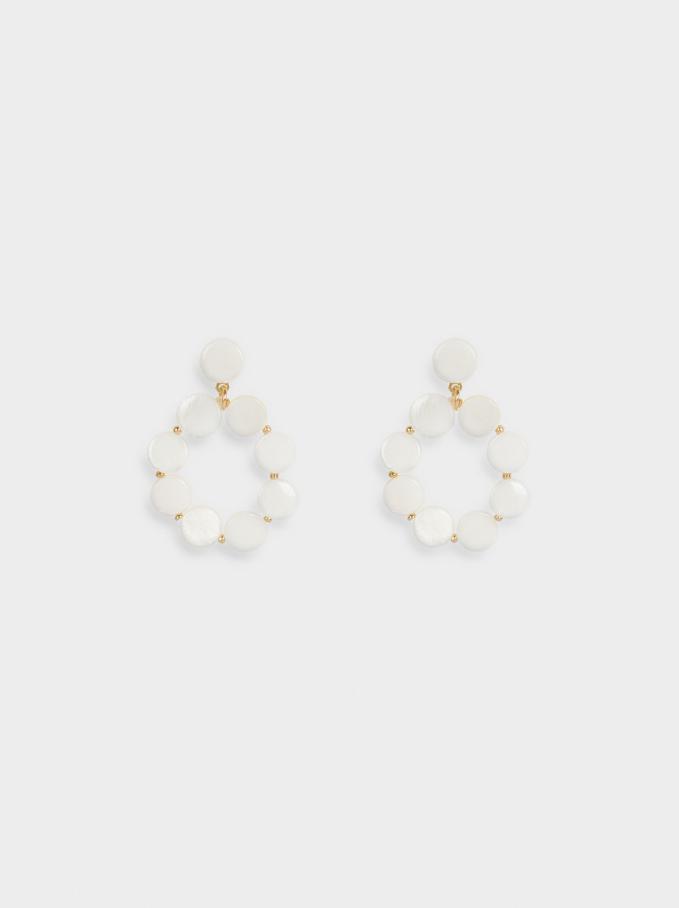 Shell Earrings, Golden, hi-res