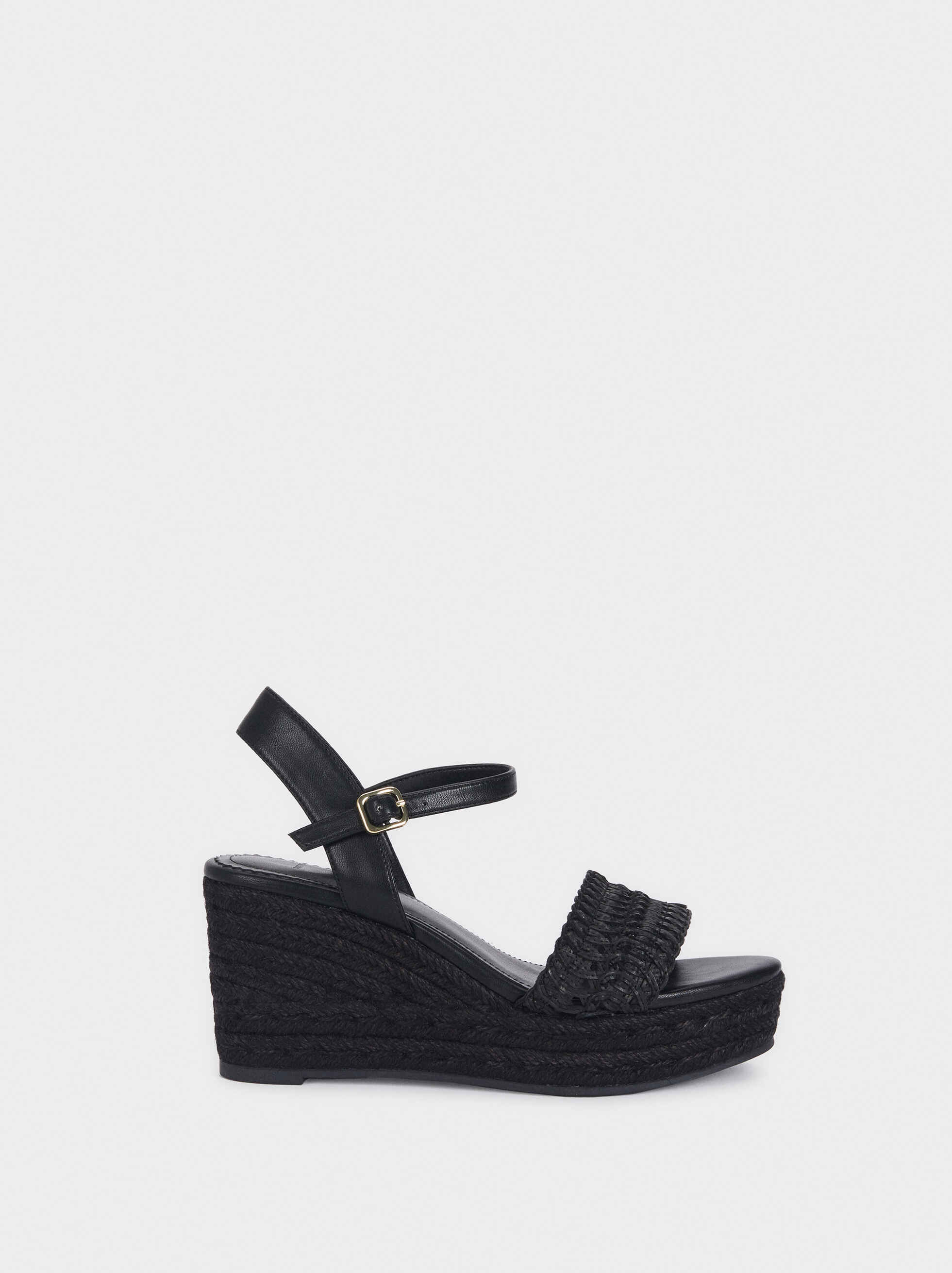 Wedges With Plaited Straps, , hi-res