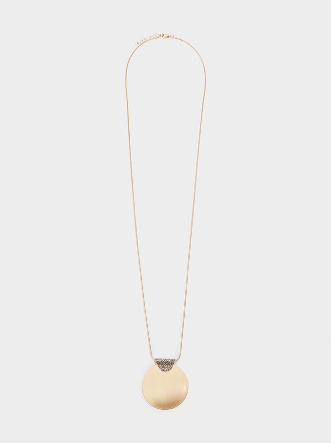 Collier Long Avec Strass Et Médaillon, Multicolore, hi-res