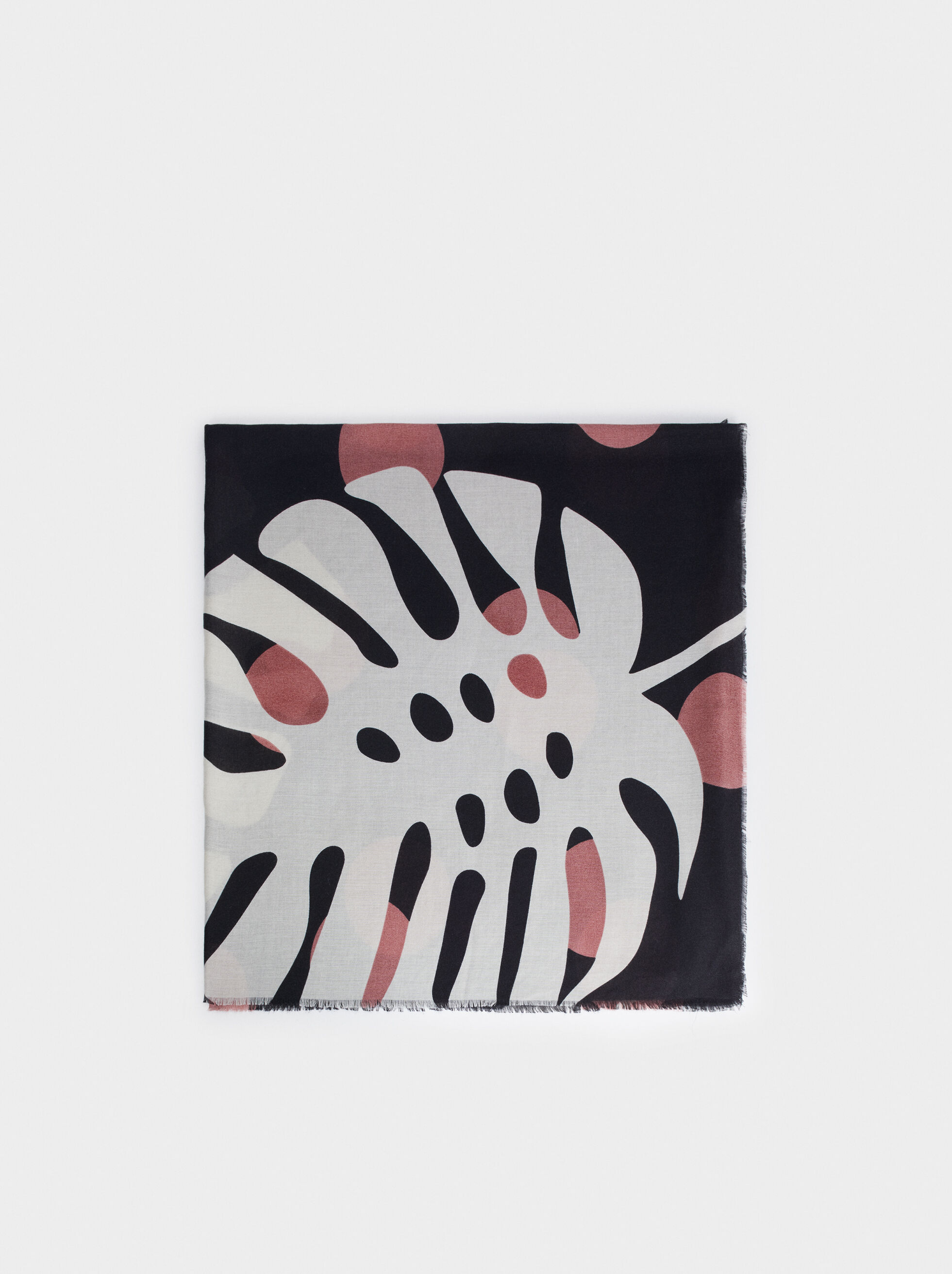 Leaf Print Scarf, , hi-res