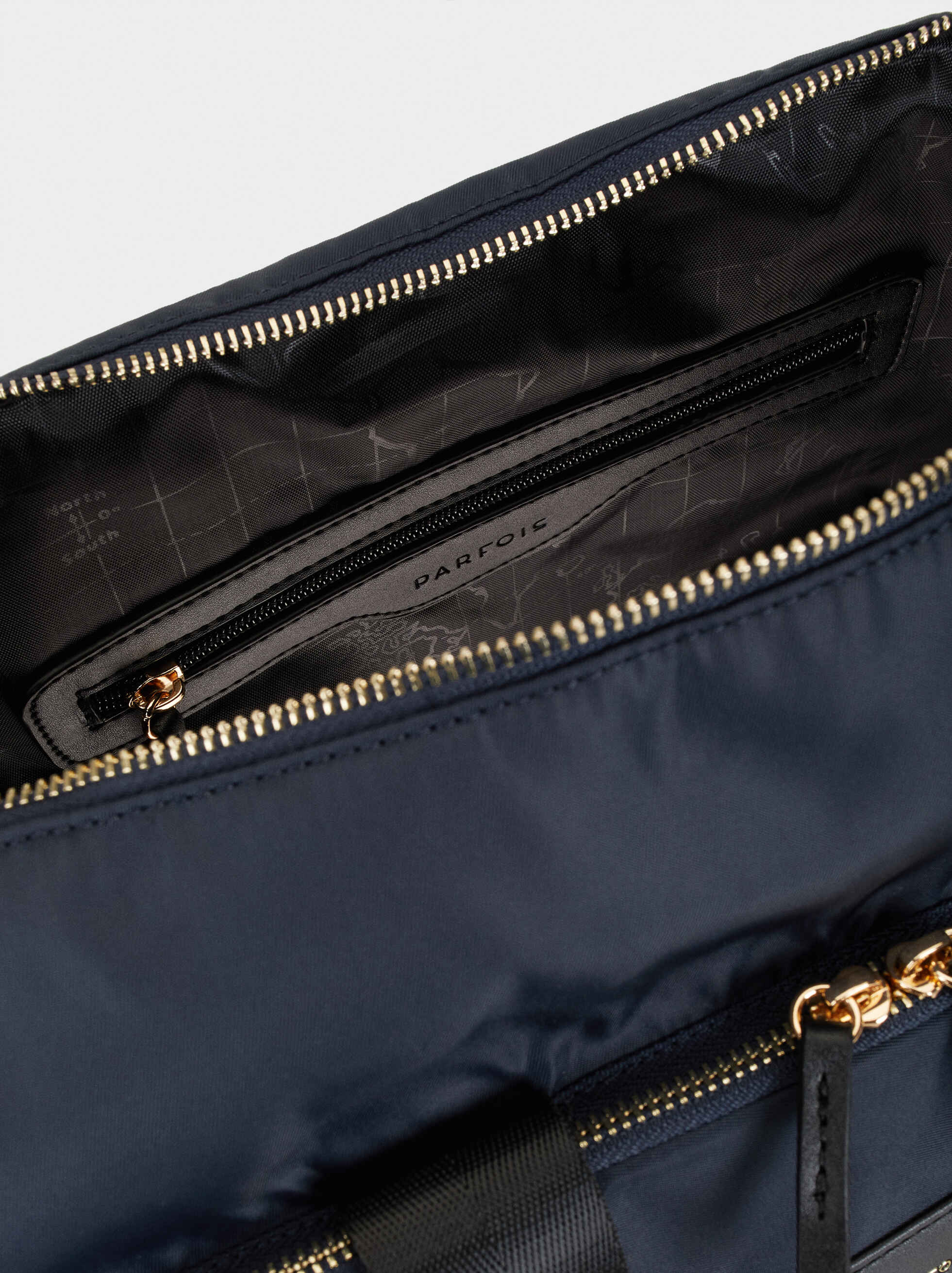 Nylon Weekend Bag, Navy, hi-res