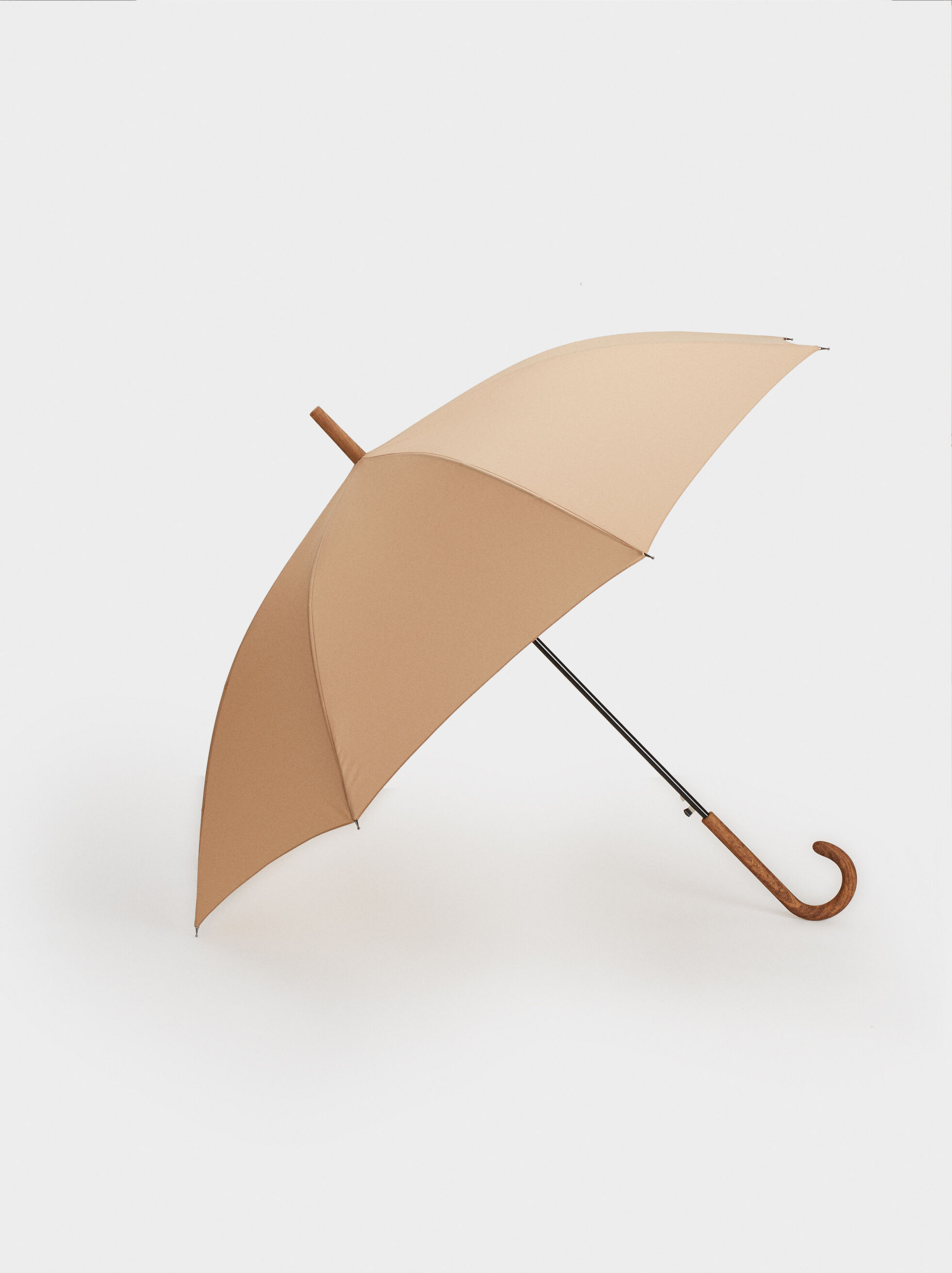 Large Plain Umbrella, Camel, hi-res