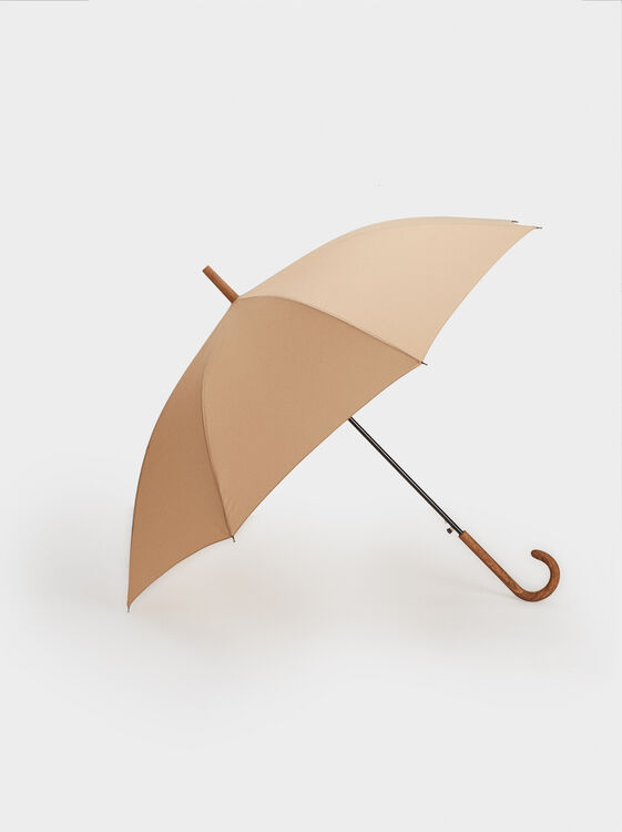 Large Plain Umbrella, Camel, hi-res