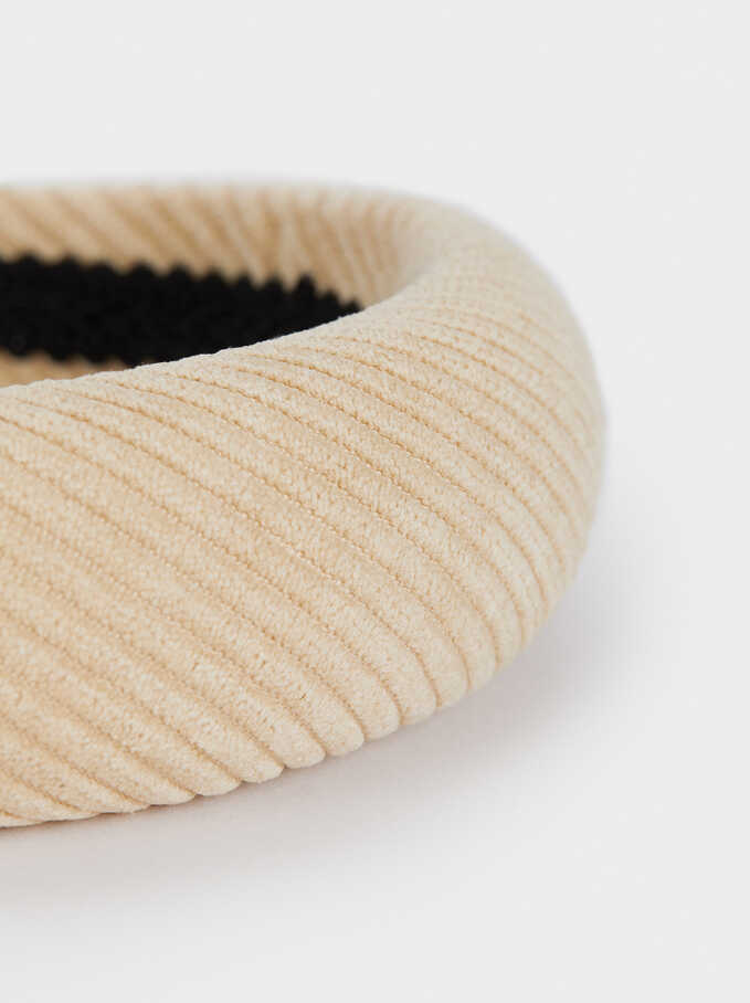 Rigid Headband, Beige, hi-res