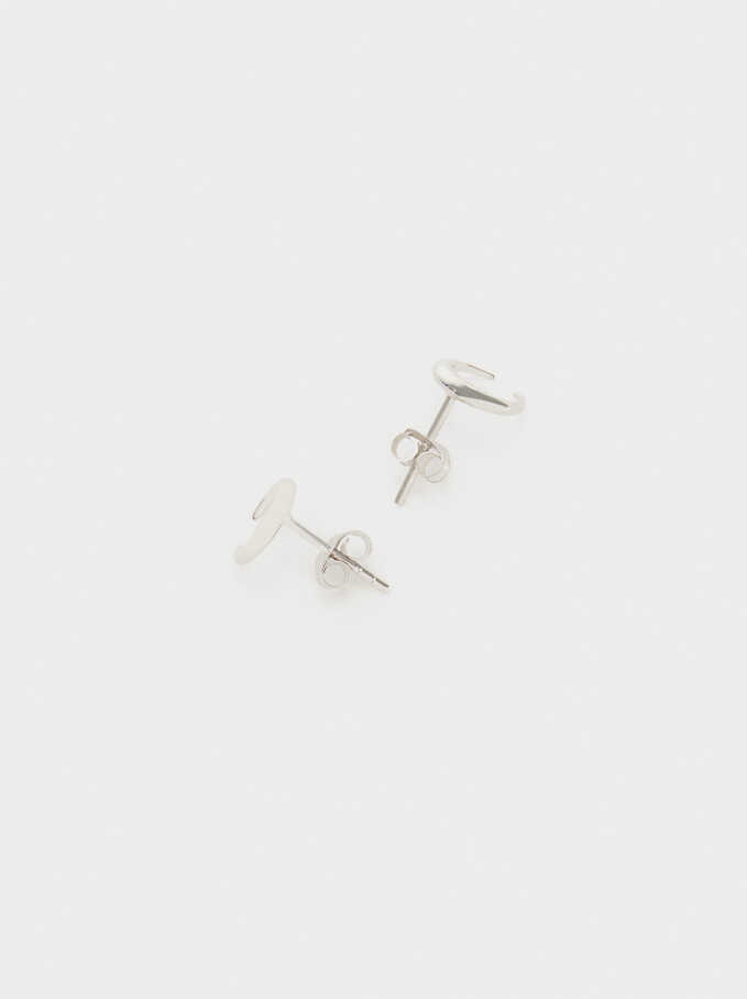 925 Silver Earrings, Silver, hi-res
