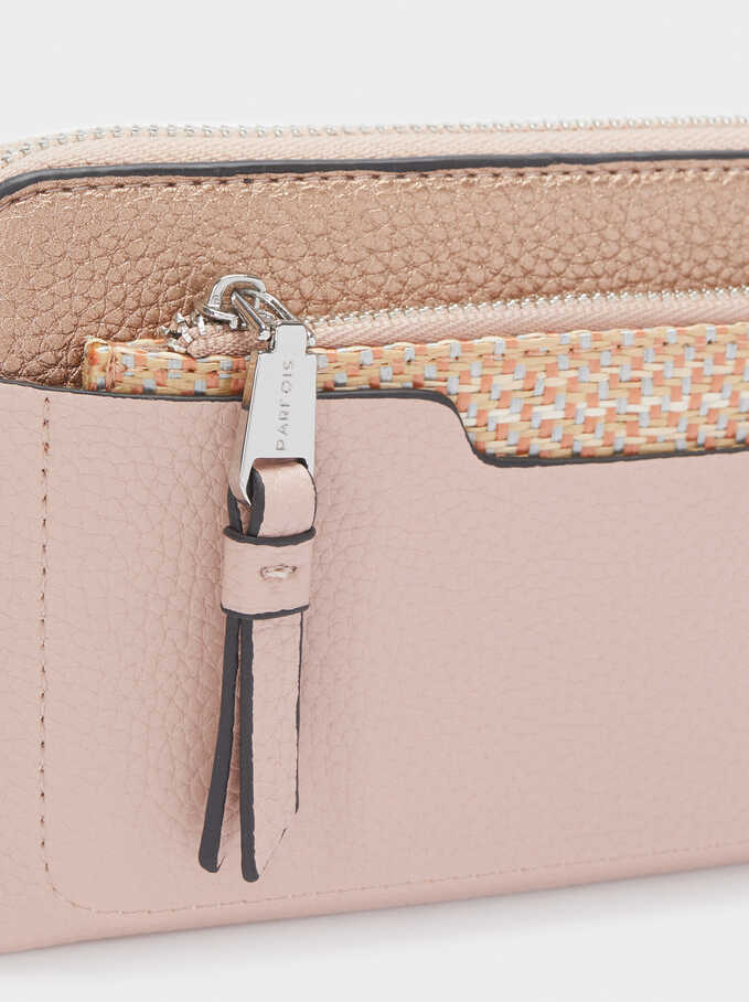 Wallet With Removable Coin Purse, Pink, hi-res