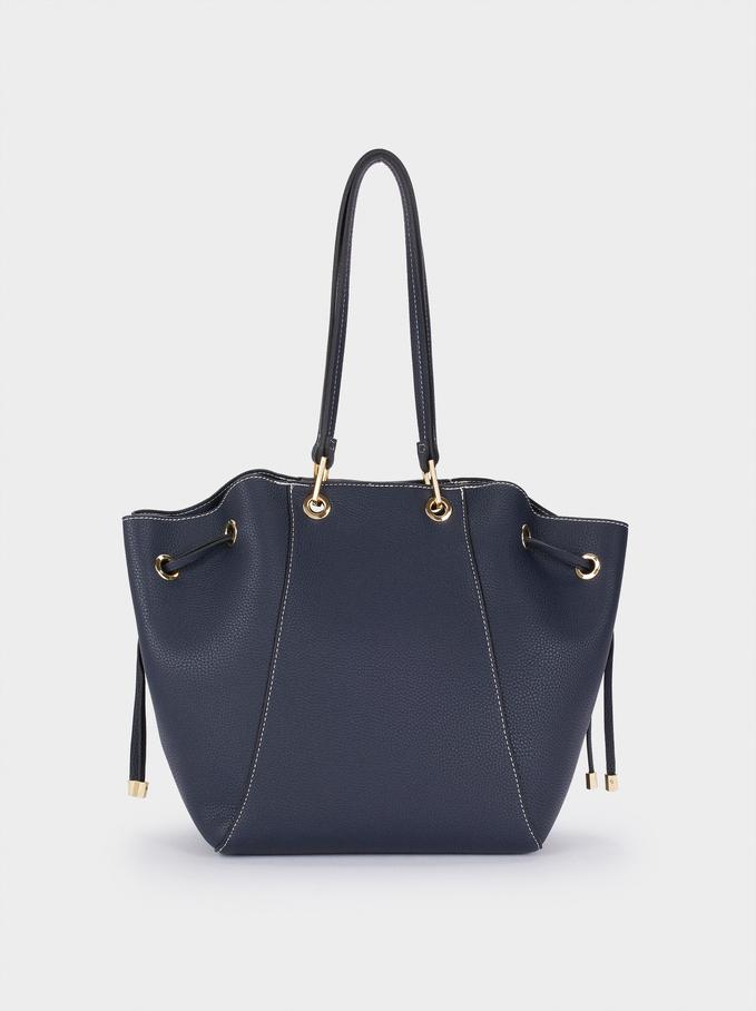 Shopper Mit Herausnehmbarem Inneren, Marineblau, hi-res