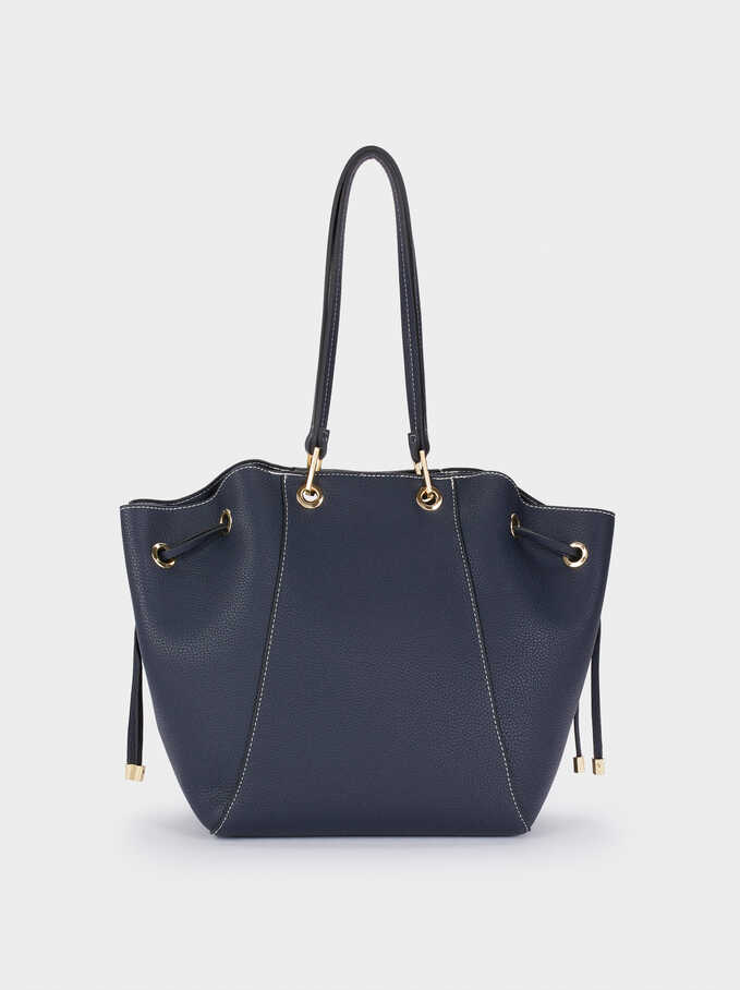 Tote Bag With Removable Interior, Navy, hi-res