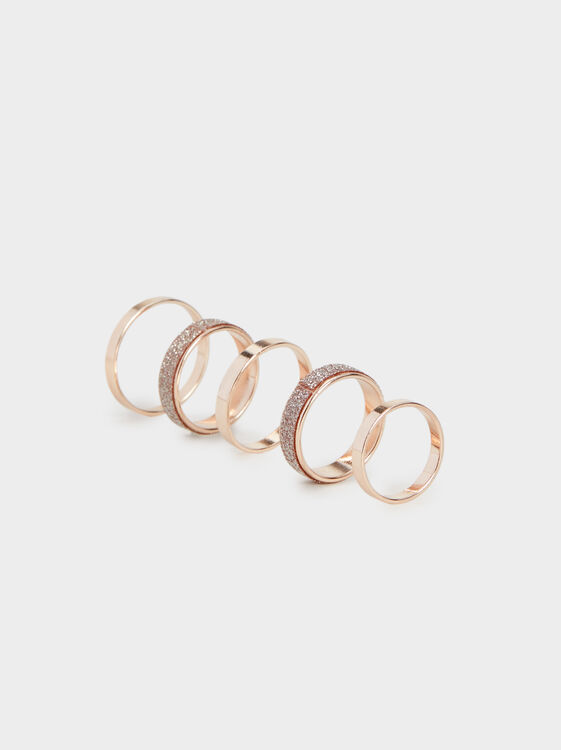 Set Of Pink Desert Rings, , hi-res