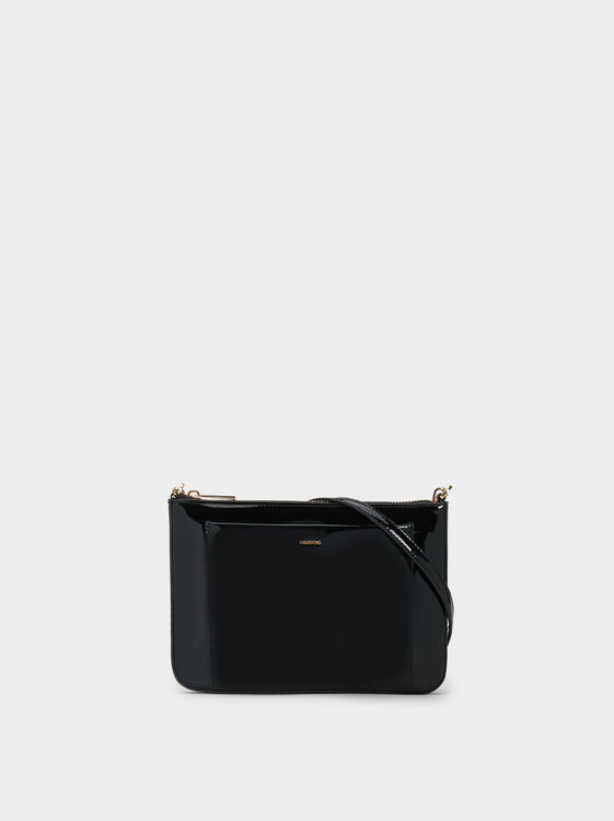 Patent Finish Crossbody Bag, , hi-res