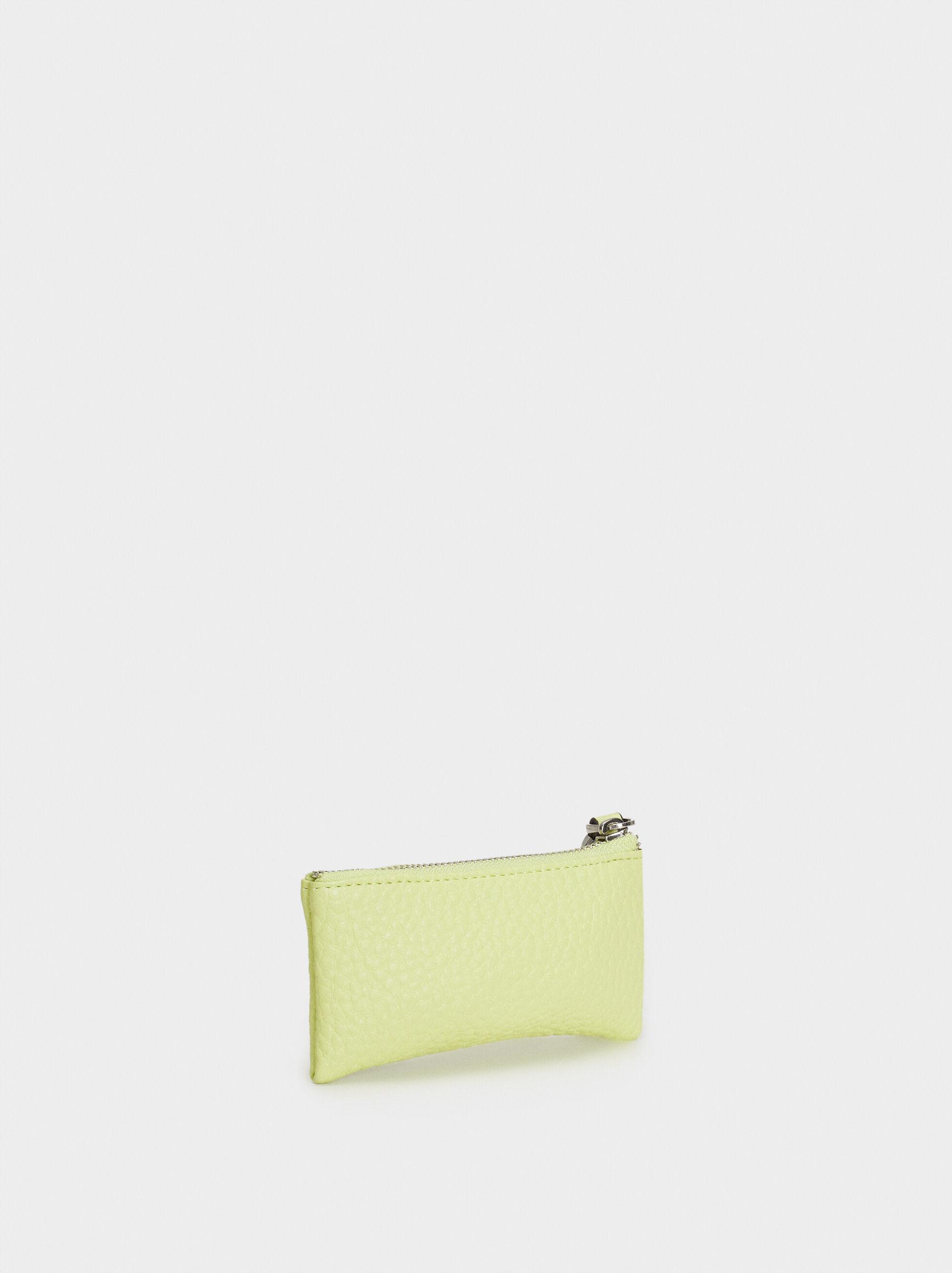 Medium Purse With Key Ring, Yellow, hi-res