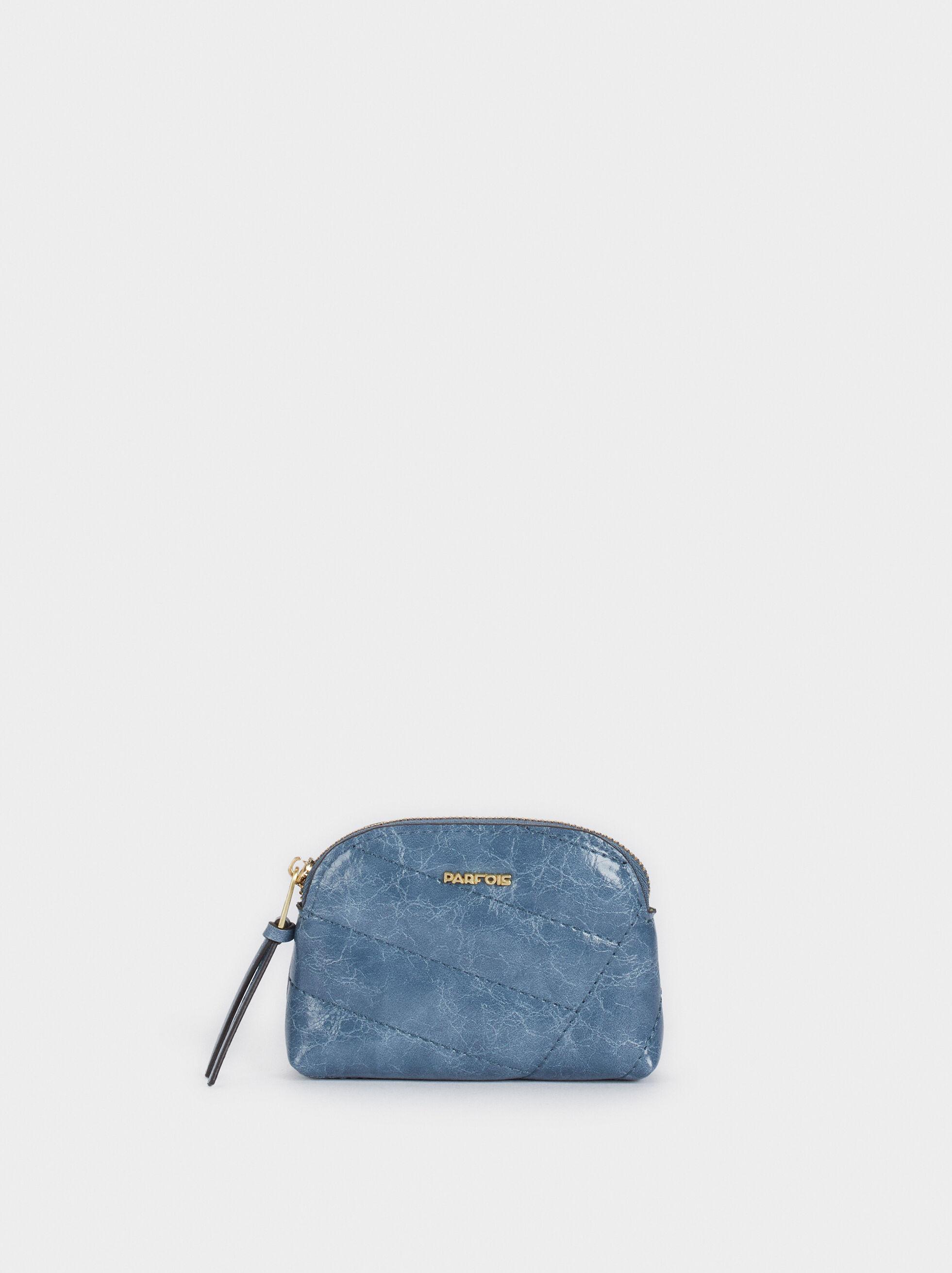 Porte-Monnaie Matelasée, Bleu, hi-res