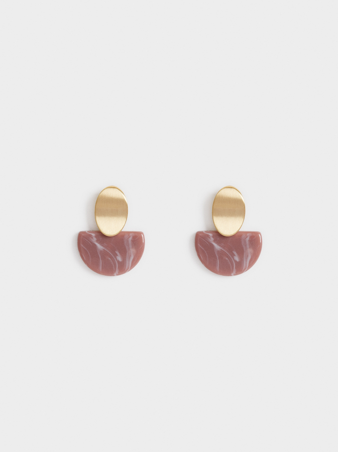 Savage Sparkle Short Earrings, Pink, hi-res
