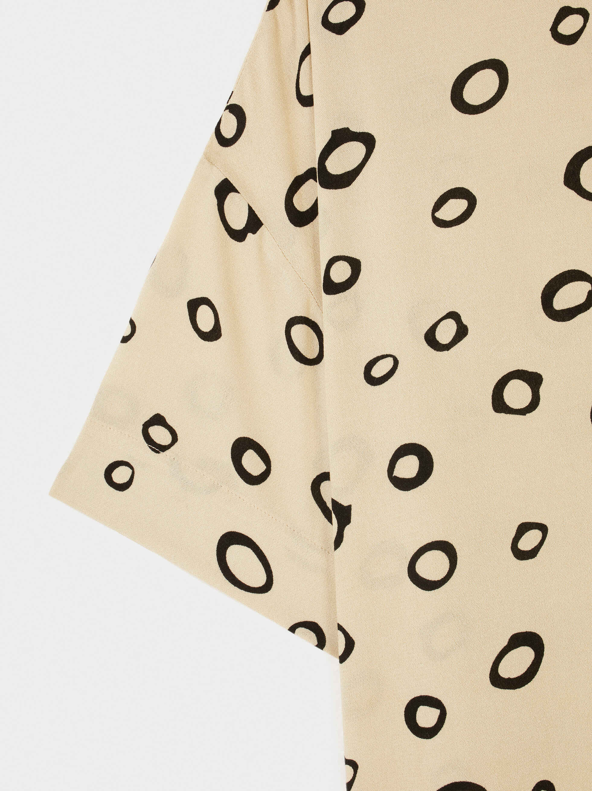 Shirt With Circle Print, Ecru, hi-res
