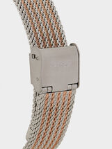 Watch With Metallic Mesh Wristband, Orange, hi-res