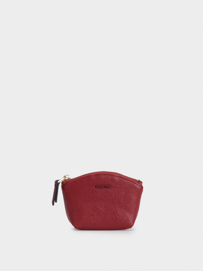 Plain Purse With A Zip Fastening, Red, hi-res