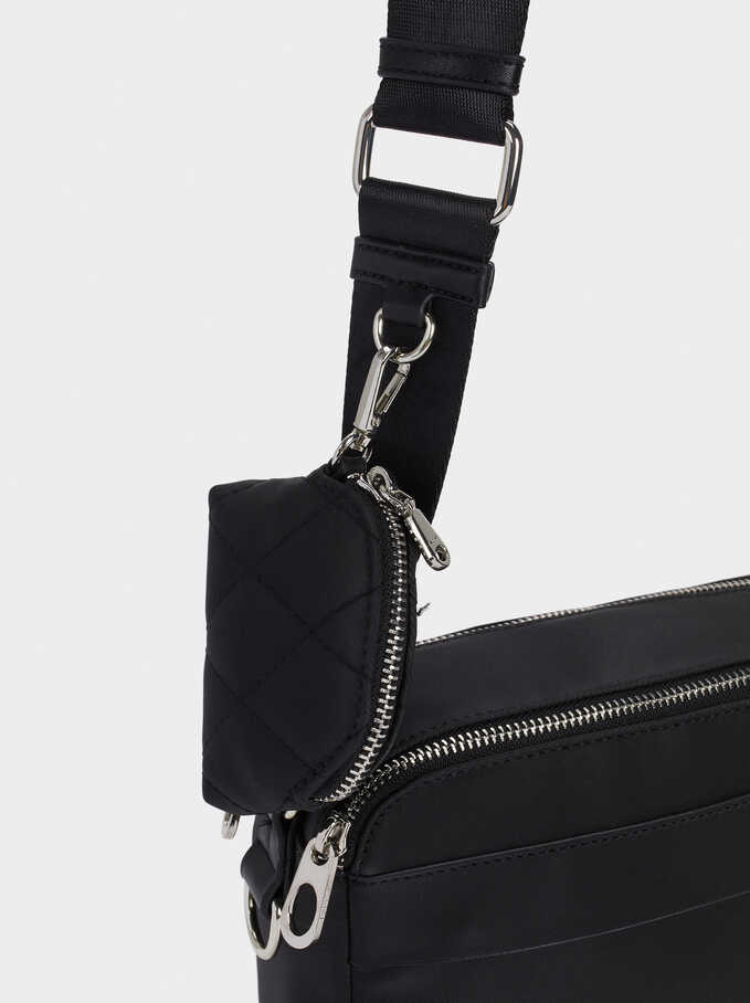 Crossbody Bag With Purse , Black, hi-res