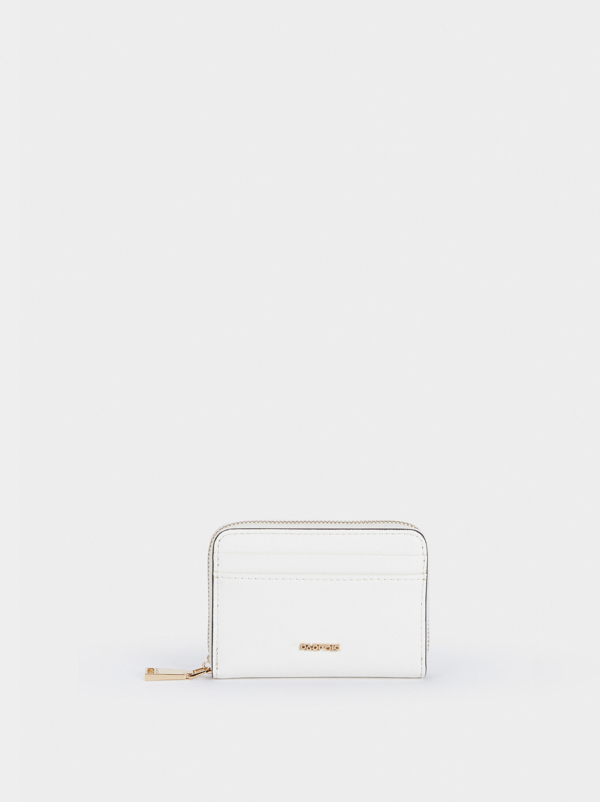 Compact Zipped Purse, White, hi-res