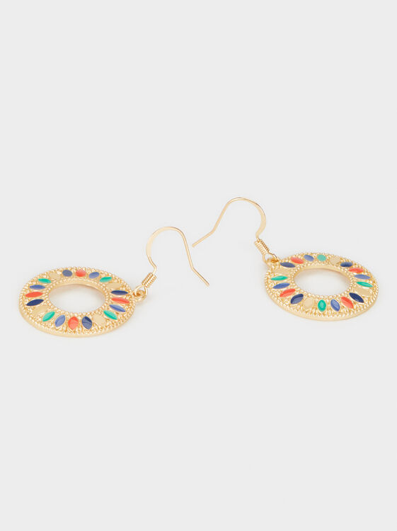 Medium-Sized Zorba Multi-Coloured Earrings, Multicolor, hi-res