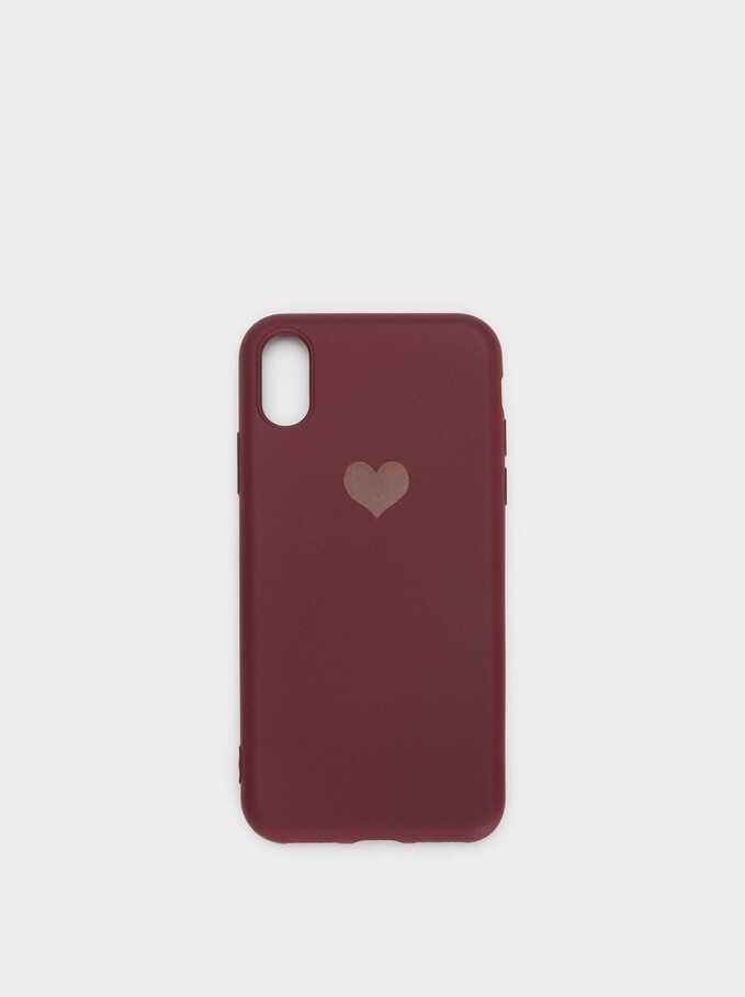 Funda Para Móvil Corazón Iphone X, Burdeos, hi-res