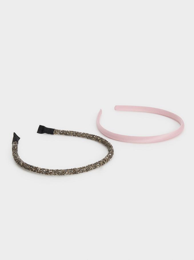 Set Of Bejewelled Headbands, Multicolor, hi-res