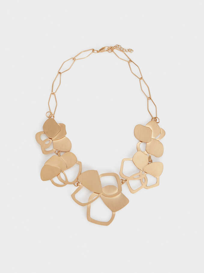 Collar Corto Exclusive Collection Flor, Dorado, hi-res