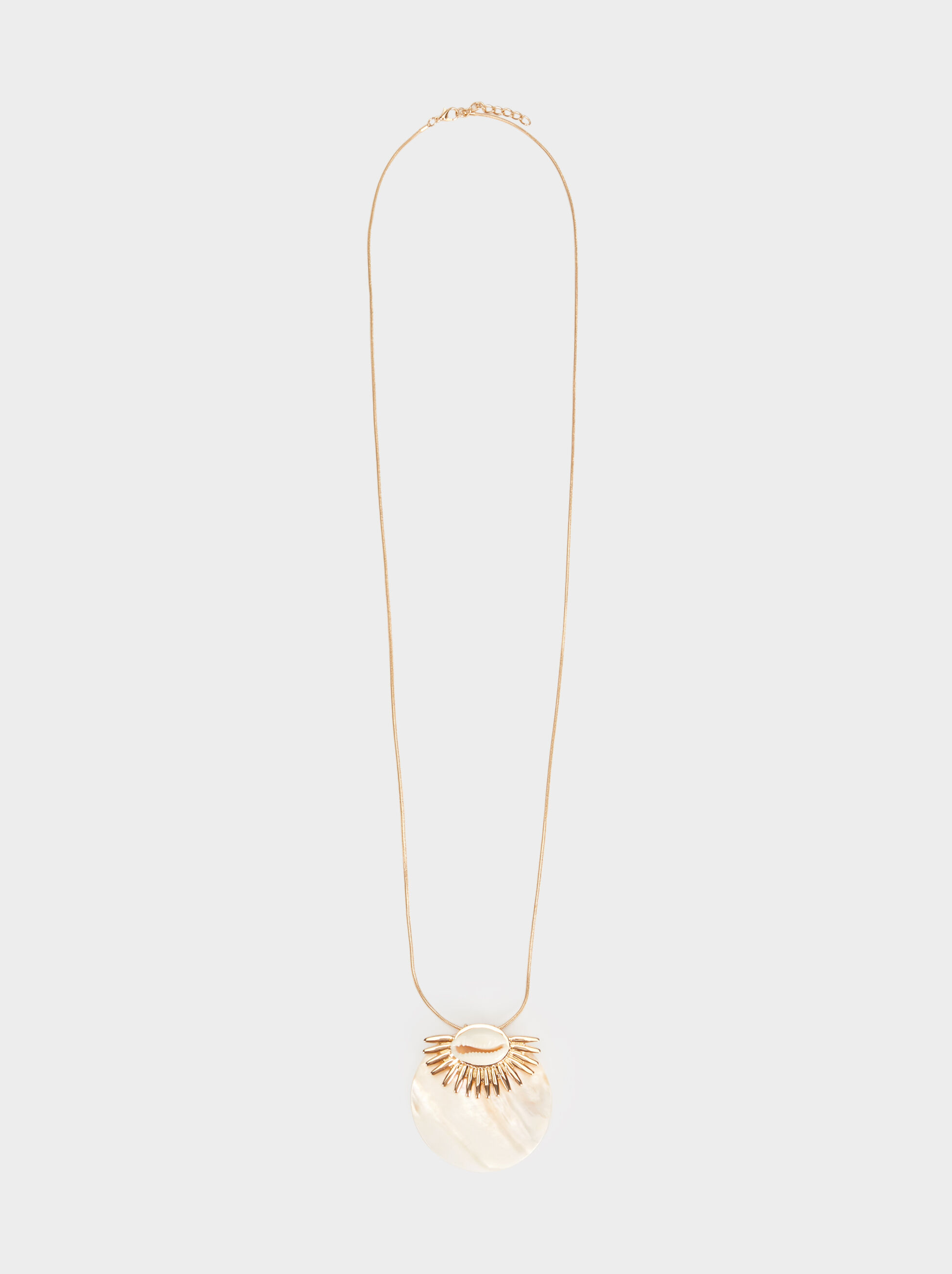 Golden Basics Long Necklace, Golden, hi-res