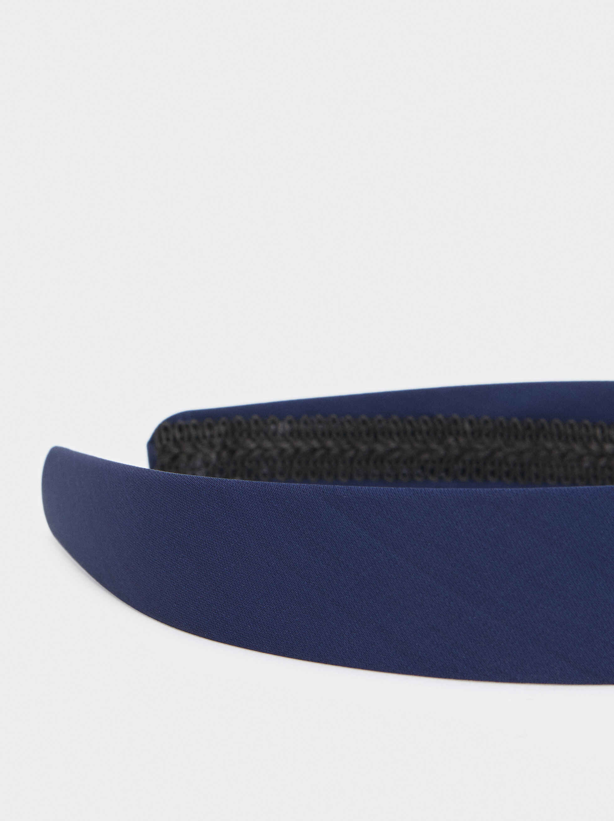 Multicoloured Print Headband With Knot, Blue, hi-res
