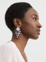 Cosmic Pink Long Earrings, Multicolor, hi-res