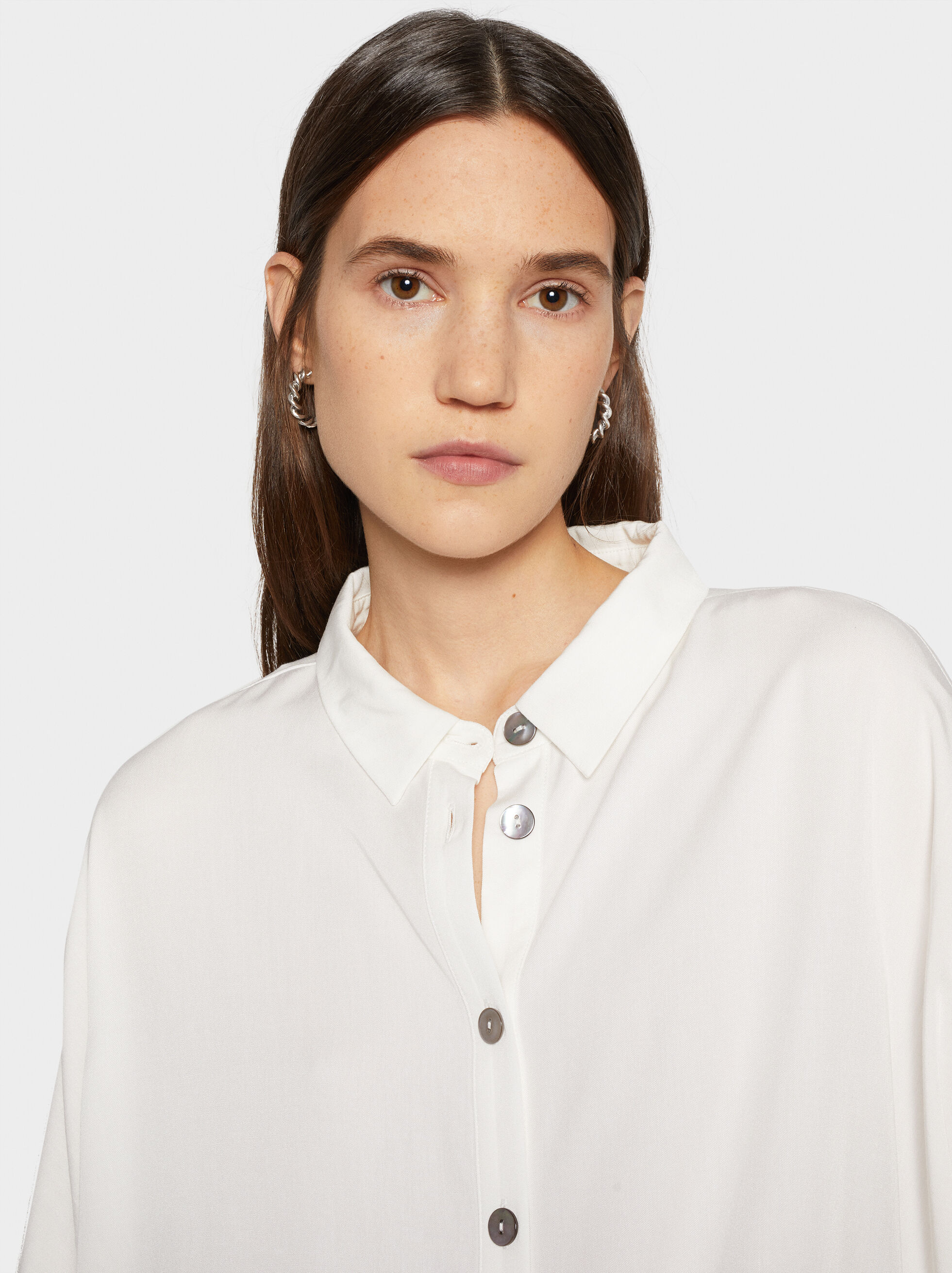 Basic Shirt, White, hi-res