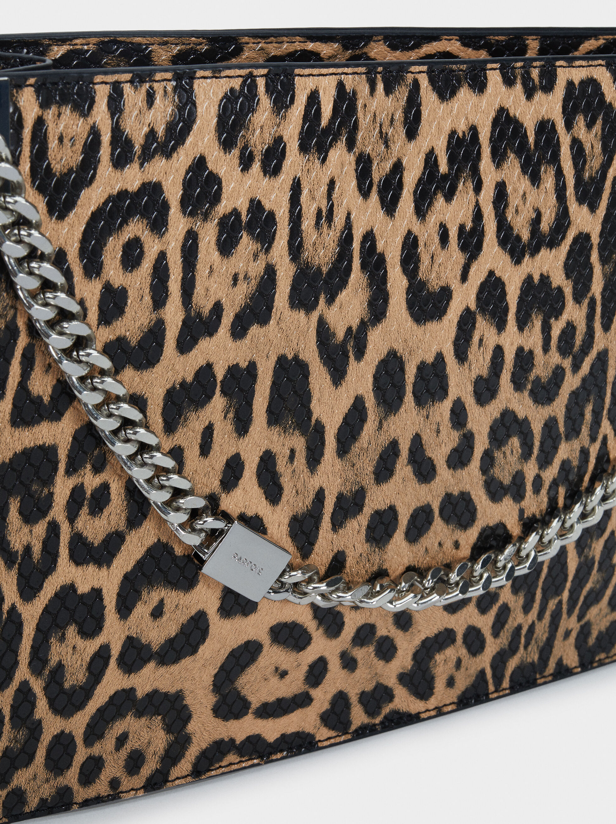 Animal Print Handbag, Beige, hi-res