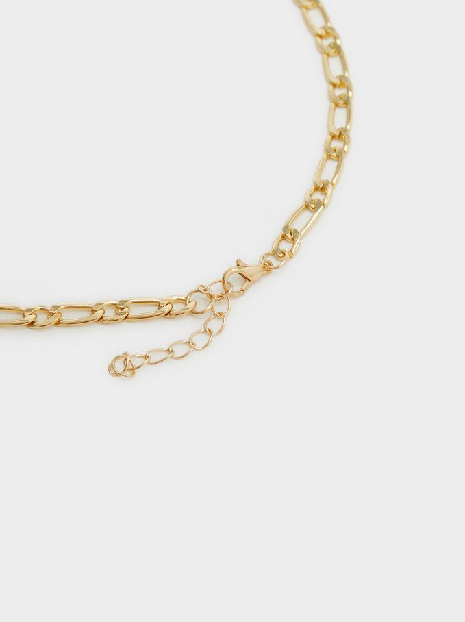 Set De Collares Con Colgantes, Dorado, hi-res