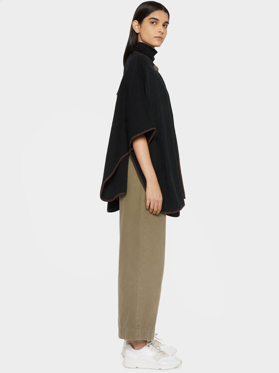 Poncho With Buckle Detail, , hi-res