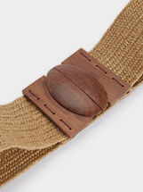 Ceinture Large Extensible, Beige, hi-res