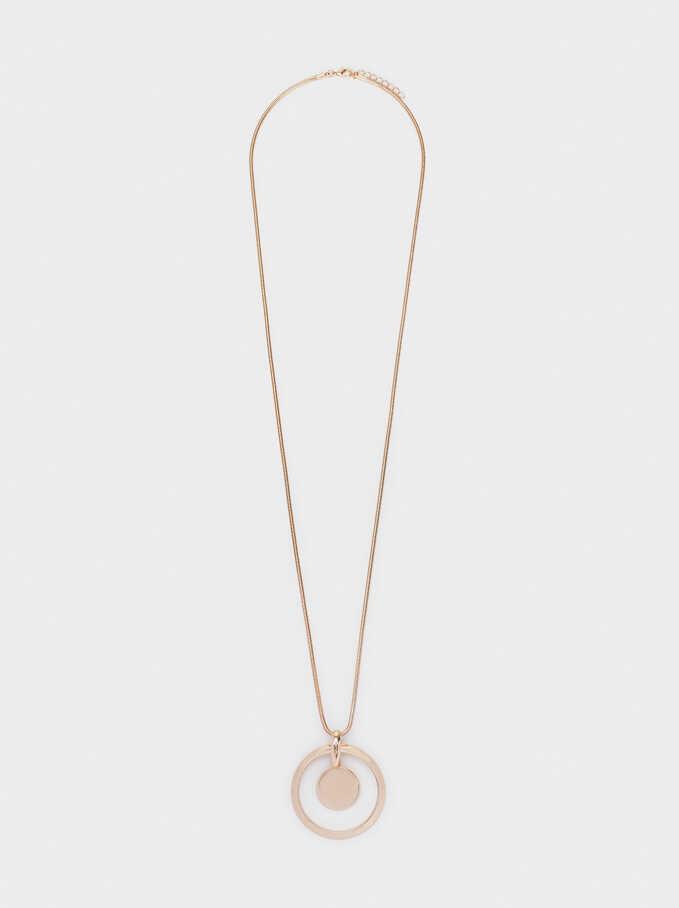 Long Gold Necklace, Golden, hi-res