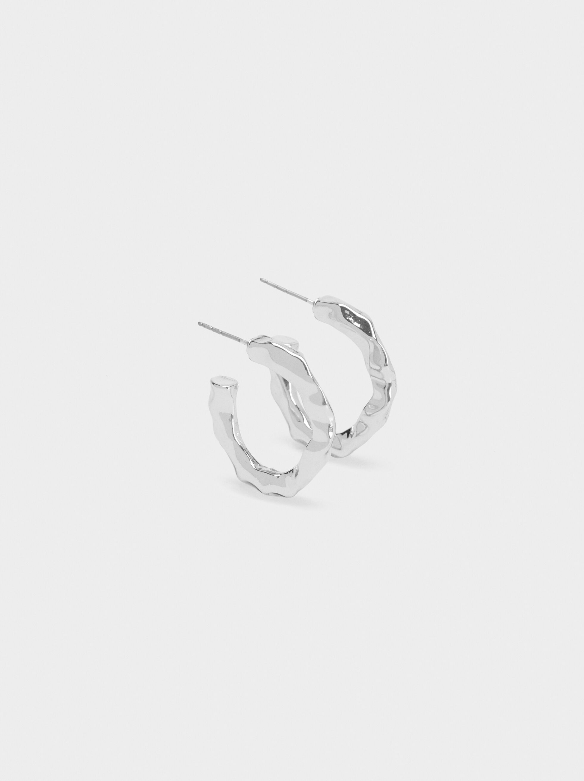Hoop Fever Small Hoop Earrings, Silver, hi-res