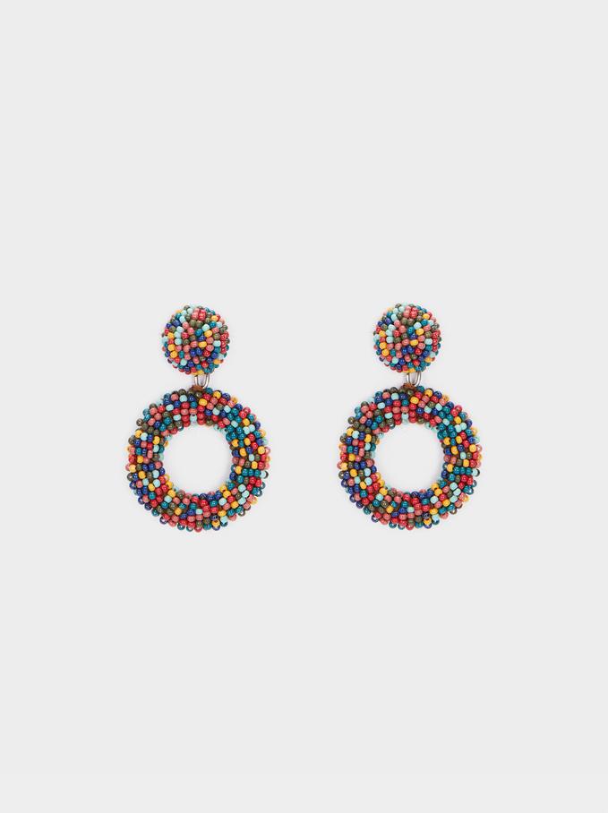 Cherry Blossom Dangle Earrings, Green, hi-res
