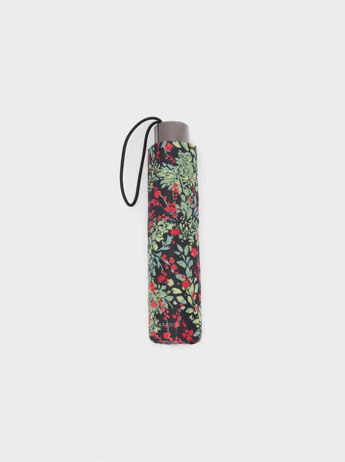 Small Printed Umbrella, Multicolor, hi-res