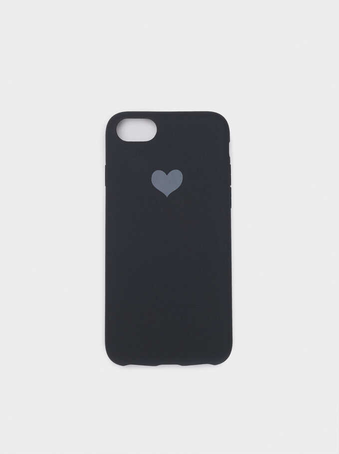 Heart Case For Iphone 6, 7 And 8, Grey, hi-res