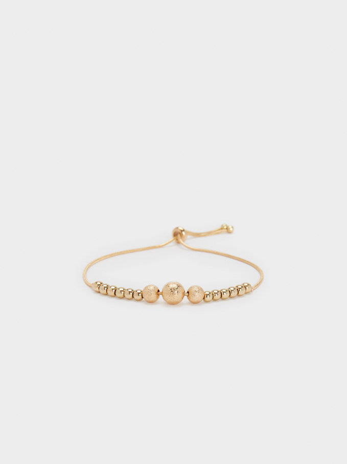 Basic Adjustable Bracelet, Golden, hi-res