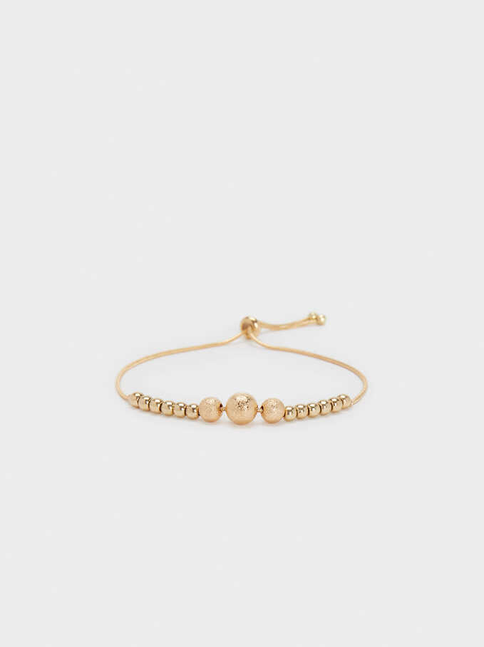 Gold Metal Adjustable Bracelet, Golden, hi-res