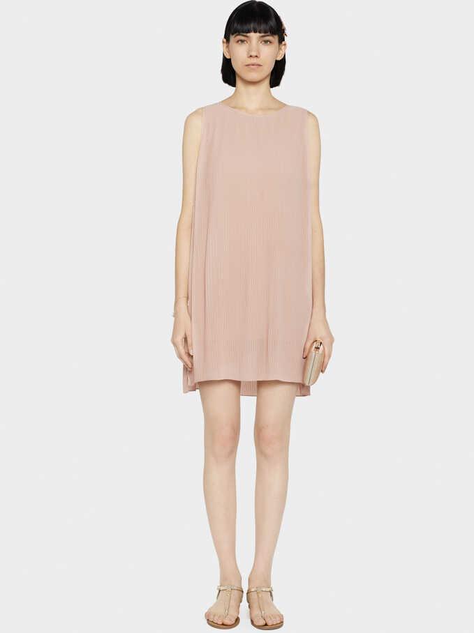 Sleeveless Knit Dress, Pink, hi-res