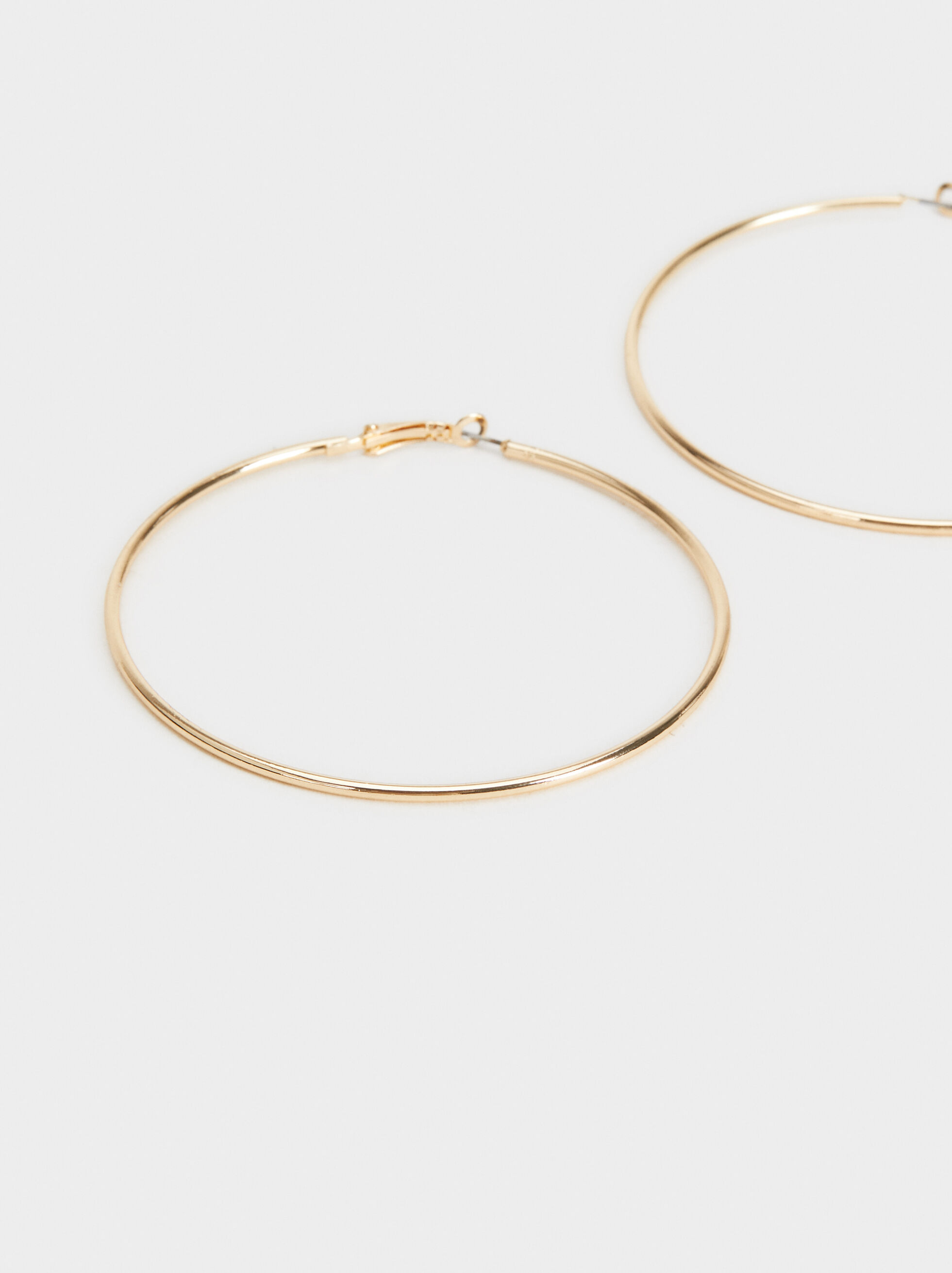 Basic Large Hoop Earrings, Golden, hi-res