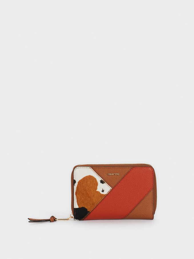Cartera Diseño Patchwork, Camel, hi-res