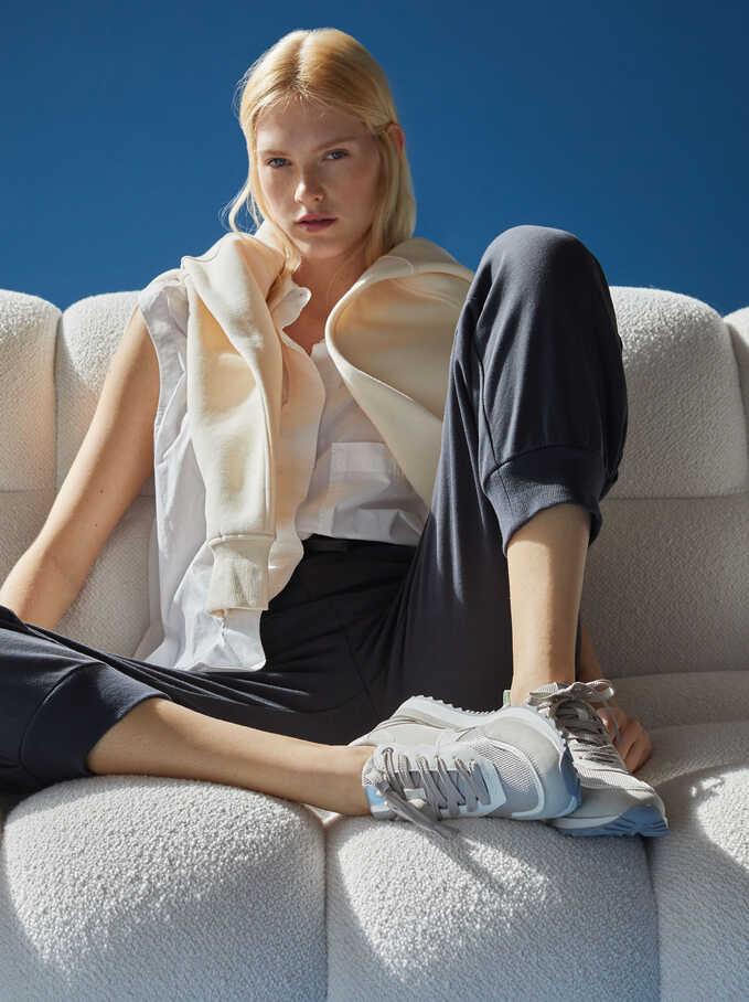 Contrast Sneakers, Grey, hi-res