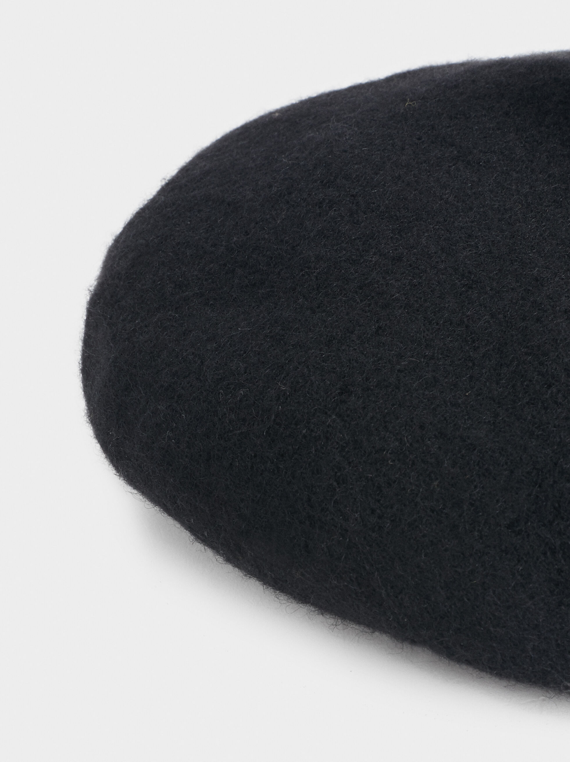Wool Beret, Black, hi-res