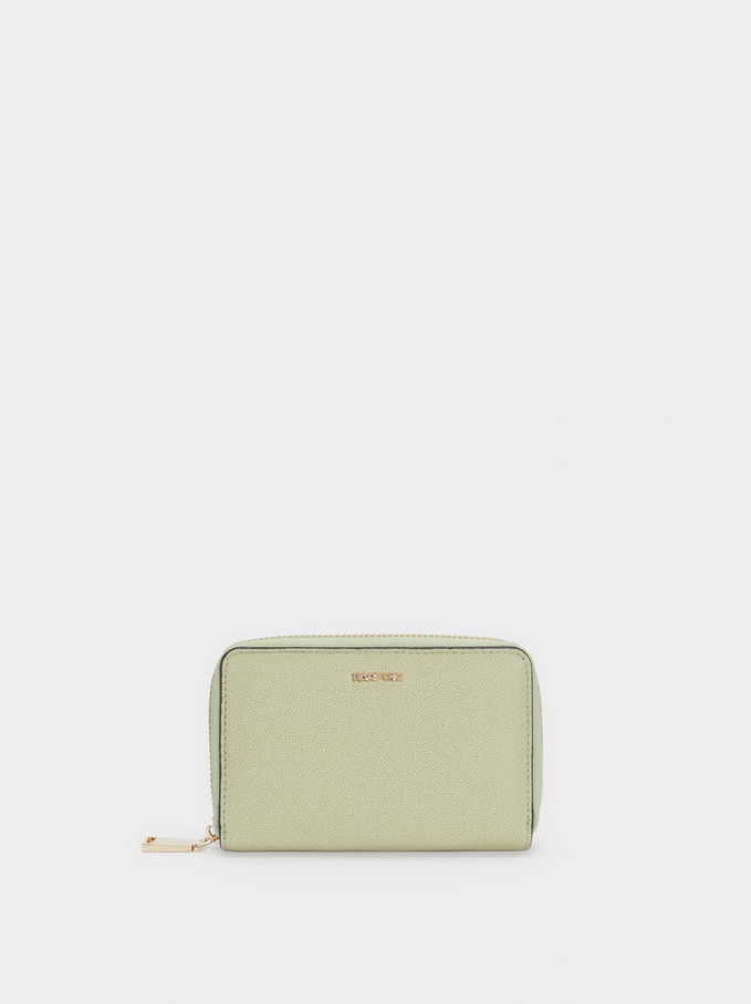 Plain Purse With Zip Fastening, Green, hi-res