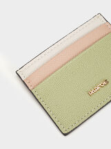 Multi-Colour Card Holder, Green, hi-res