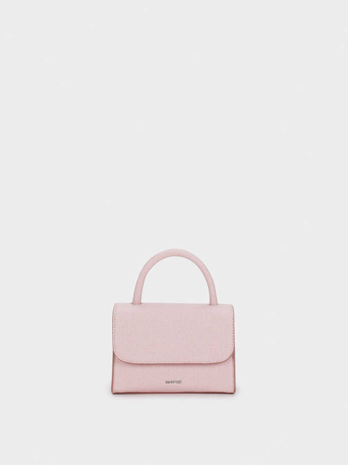 Embossed Mini Party Clutch, Pink, hi-res