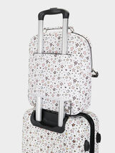 Star Print Backpack, White, hi-res